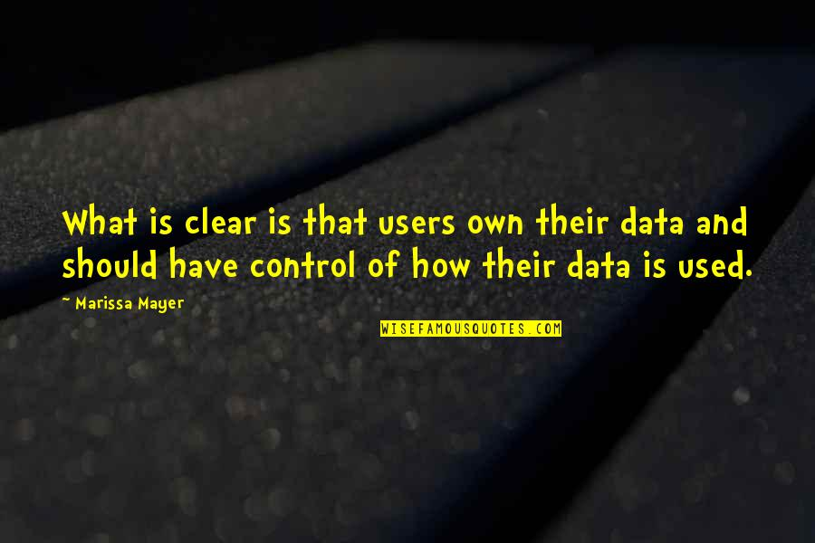 Users Quotes By Marissa Mayer: What is clear is that users own their
