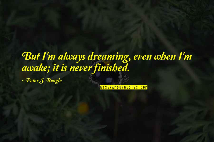 Usnea Quotes By Peter S. Beagle: But I'm always dreaming, even when I'm awake;