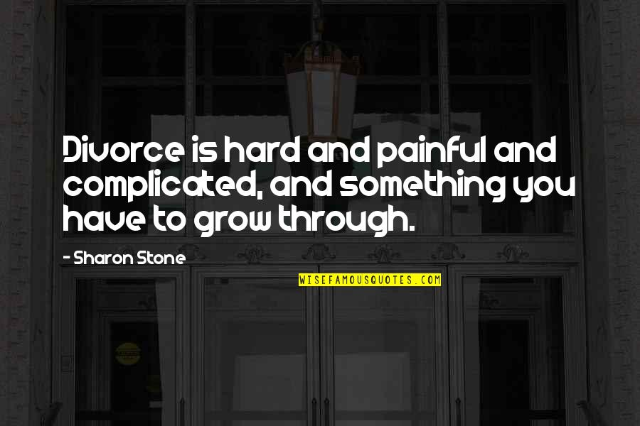 Usnea Quotes By Sharon Stone: Divorce is hard and painful and complicated, and