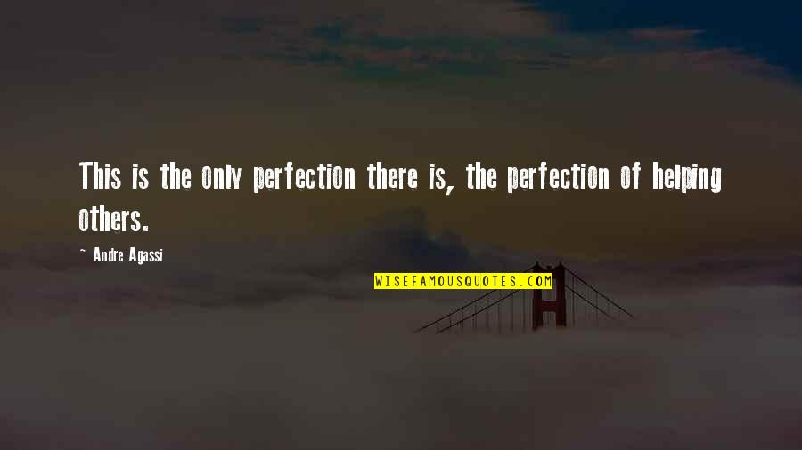 Utahns Quotes By Andre Agassi: This is the only perfection there is, the