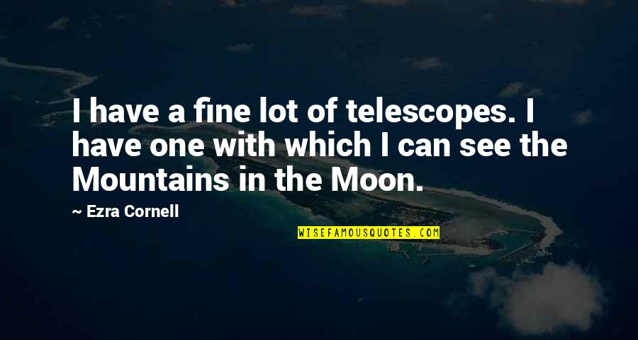 Utf 8 Double Quotes By Ezra Cornell: I have a fine lot of telescopes. I