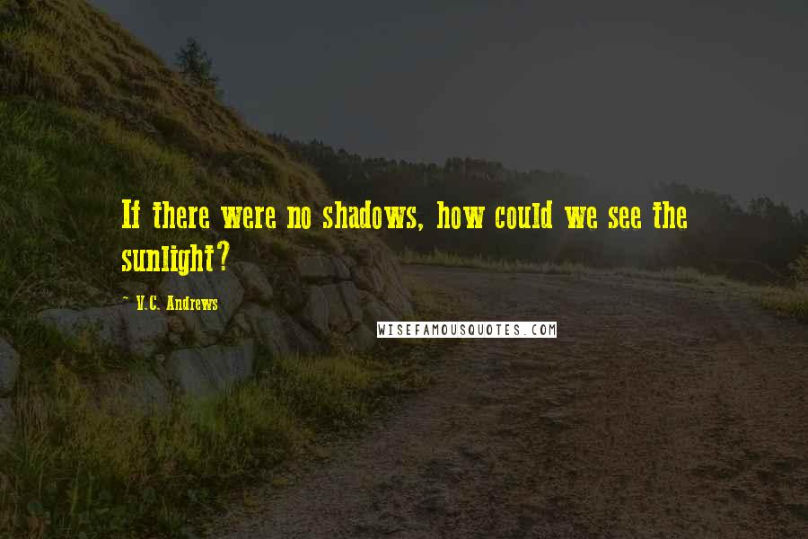 V.C. Andrews quotes: If there were no shadows, how could we see the sunlight?