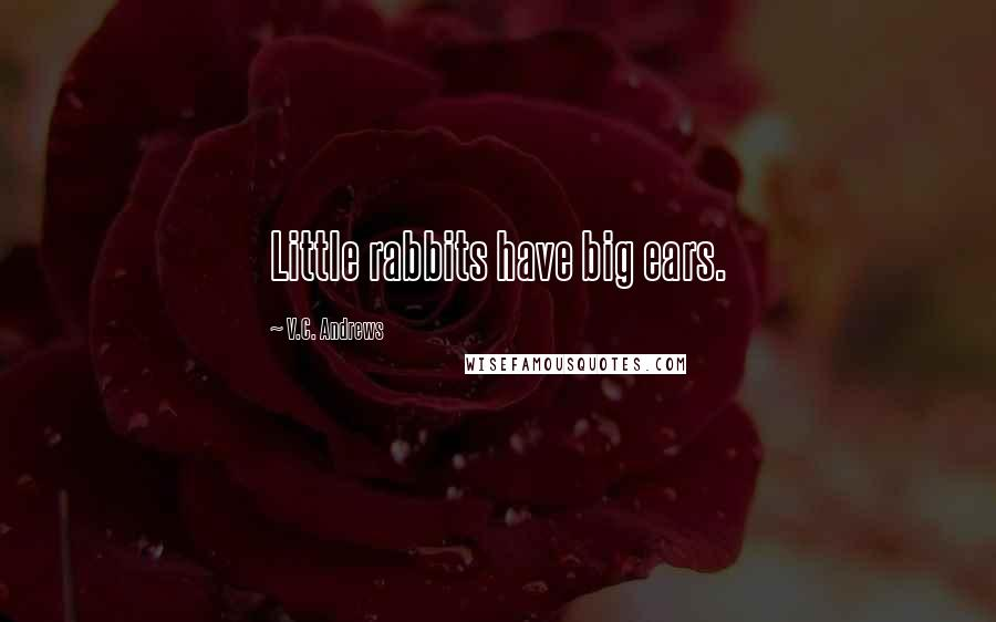 V.C. Andrews quotes: Little rabbits have big ears.