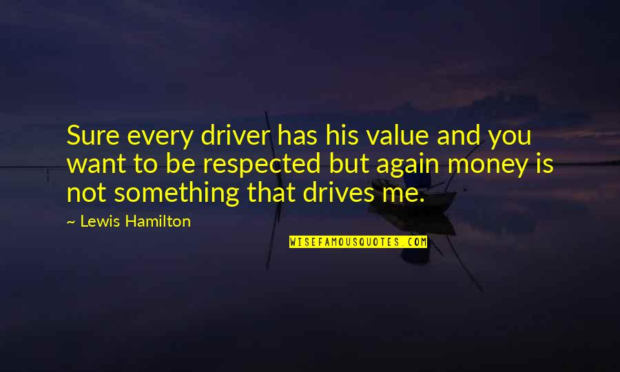 Value Something Quotes By Lewis Hamilton: Sure every driver has his value and you