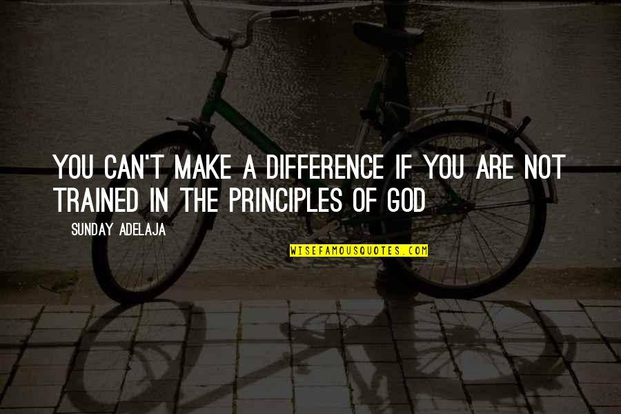Values In Life Quotes By Sunday Adelaja: You can't make a difference if you are