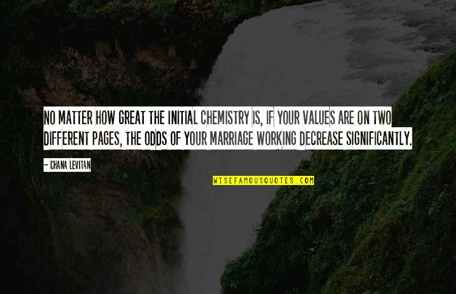 Values In Relationships Quotes By Chana Levitan: No matter how great the initial chemistry is,