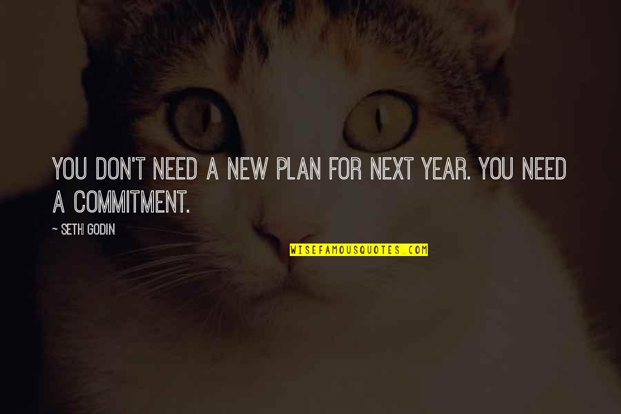 Values In Relationships Quotes By Seth Godin: You don't need a new plan for next