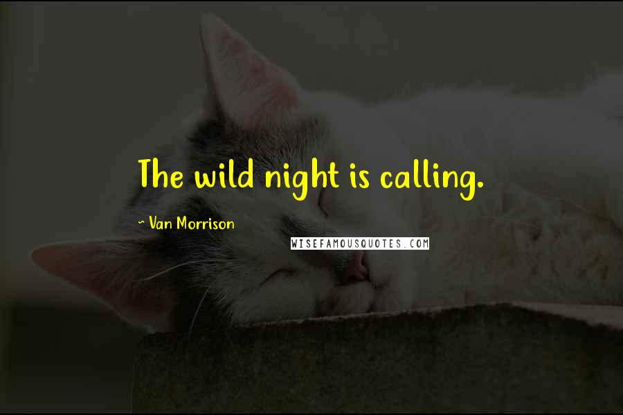 Van Morrison quotes: The wild night is calling.