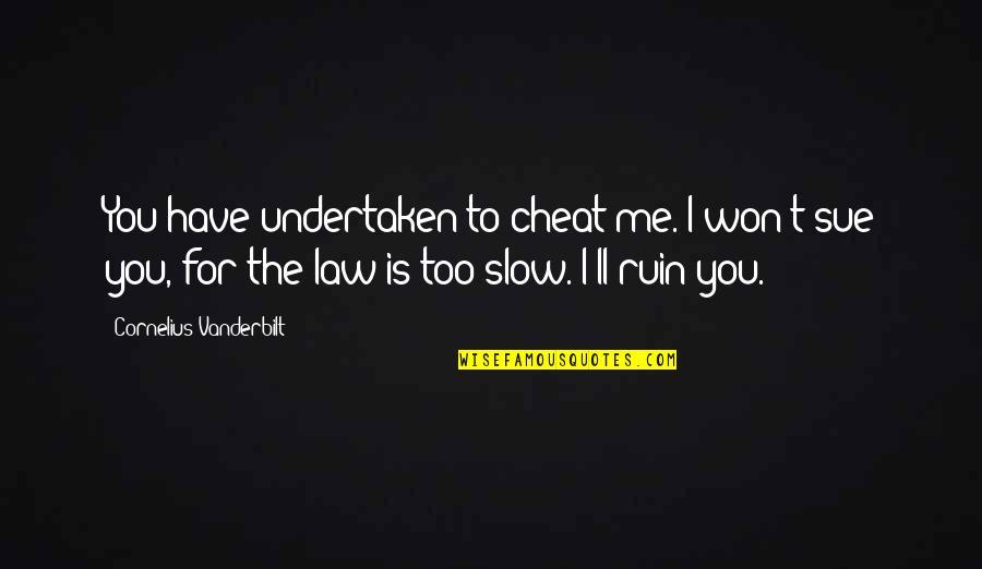 Vanderbilt Quotes By Cornelius Vanderbilt: You have undertaken to cheat me. I won't