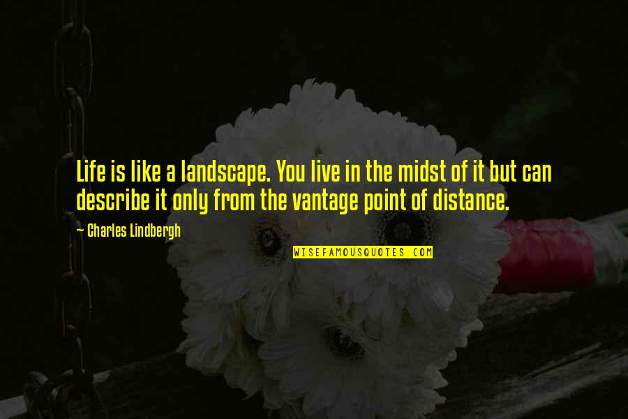 Vantage Point Quotes By Charles Lindbergh: Life is like a landscape. You live in