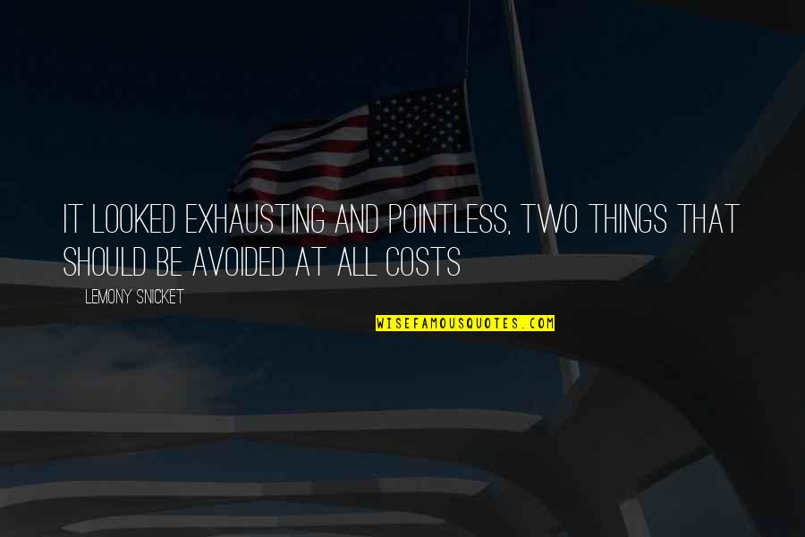 Vaster Quotes By Lemony Snicket: It looked exhausting and pointless, two things that