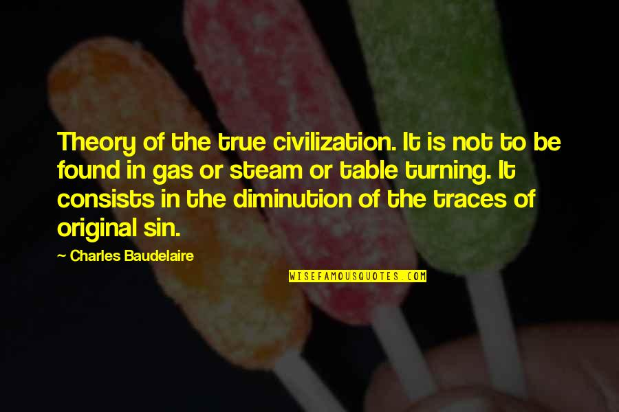 Vector Physics Quotes By Charles Baudelaire: Theory of the true civilization. It is not