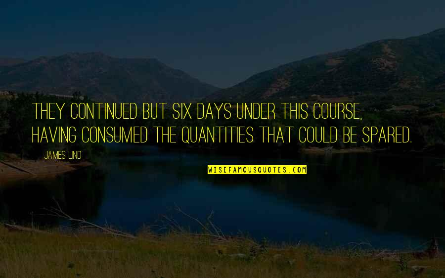 Vector Physics Quotes By James Lind: They continued but six days under this course,