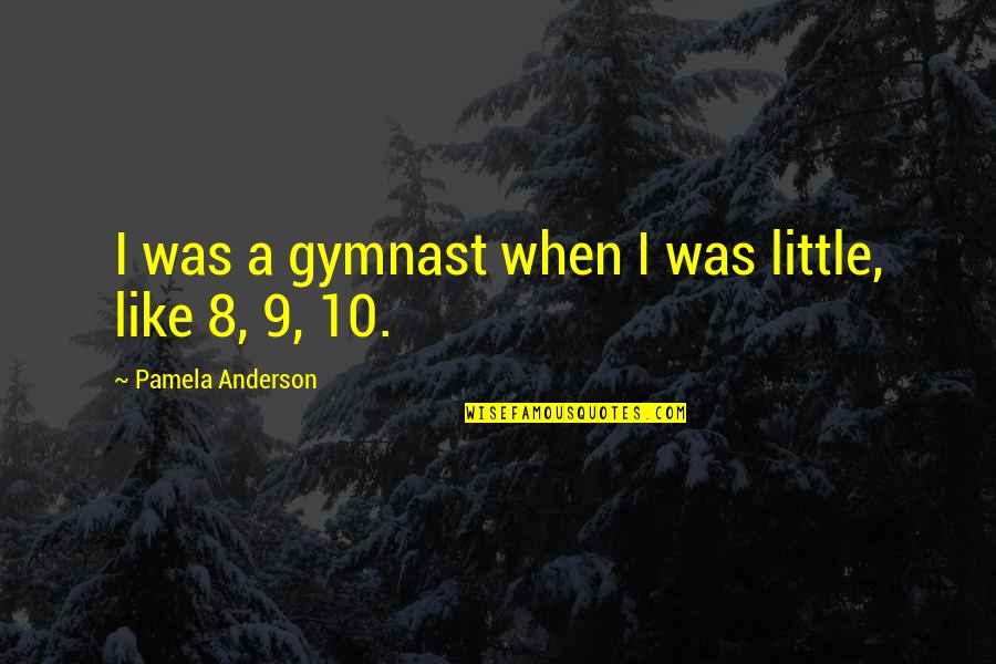 Vector Physics Quotes By Pamela Anderson: I was a gymnast when I was little,