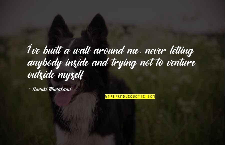 Ve'fy Quotes By Haruki Murakami: I've built a wall around me, never letting