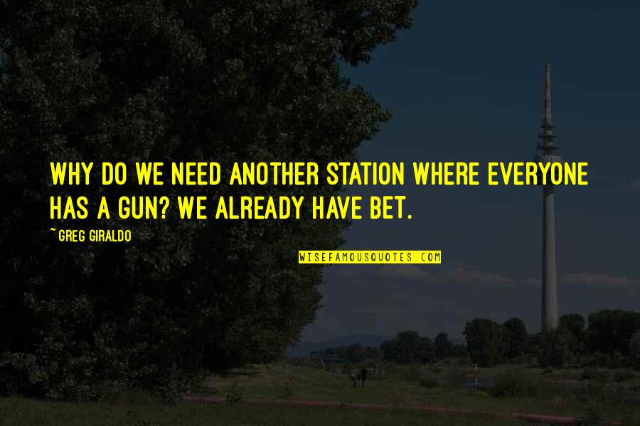 Venice Grand Canal Quotes By Greg Giraldo: Why do we need another station where everyone