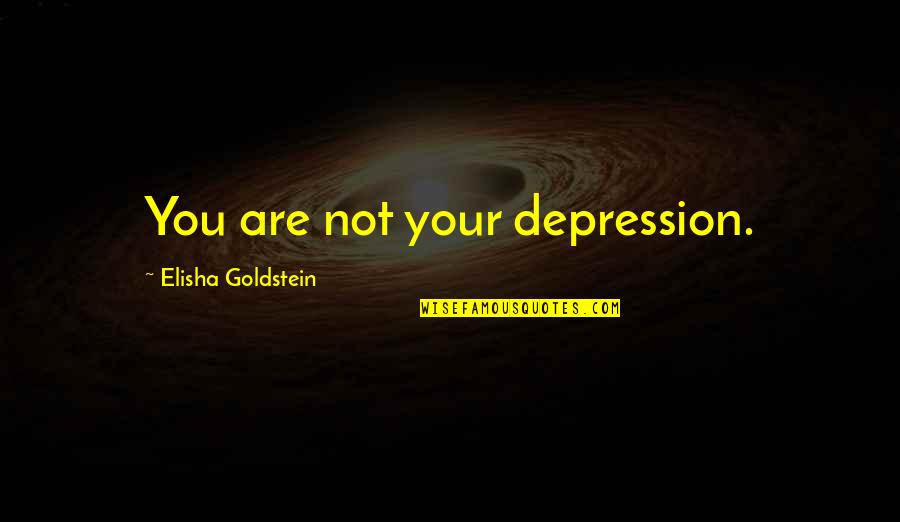 Veredict Quotes By Elisha Goldstein: You are not your depression.