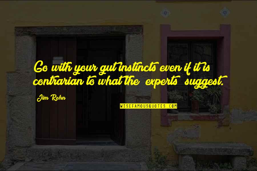 Veredict Quotes By Jim Rohn: Go with your gut instincts even if it