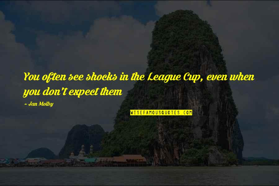 Vernon Dursley Quotes By Jan Molby: You often see shocks in the League Cup,