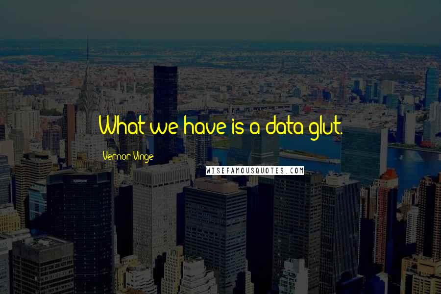 Vernor Vinge quotes: What we have is a data glut.