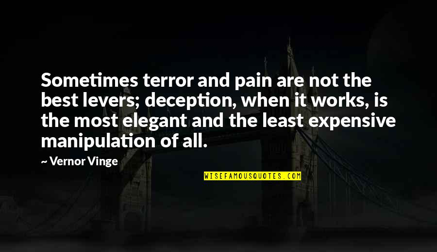 Vernor's Quotes By Vernor Vinge: Sometimes terror and pain are not the best