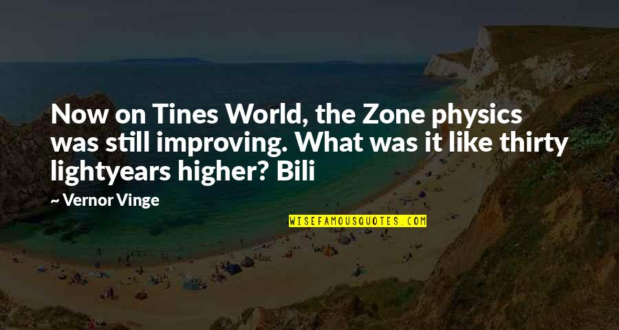 Vernor's Quotes By Vernor Vinge: Now on Tines World, the Zone physics was