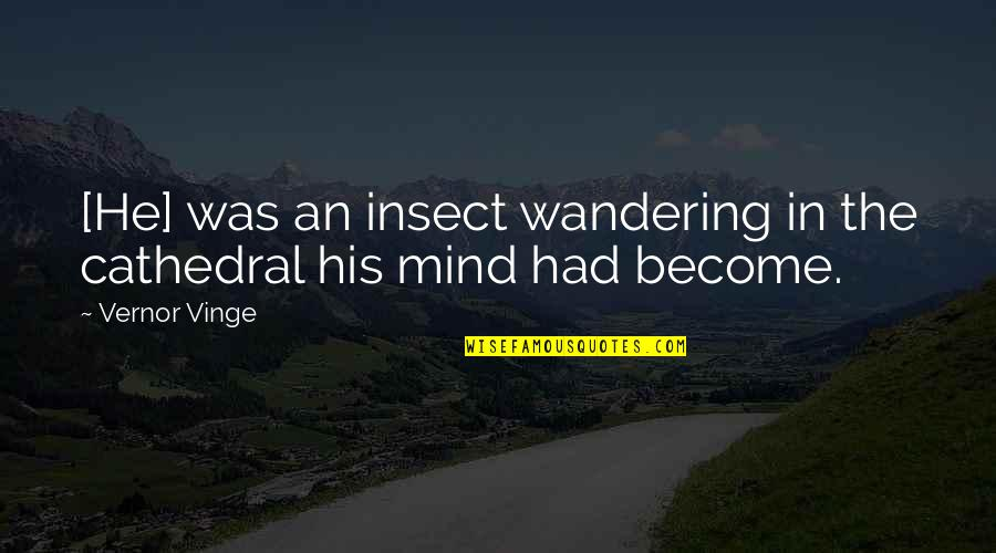 Vernor's Quotes By Vernor Vinge: [He] was an insect wandering in the cathedral