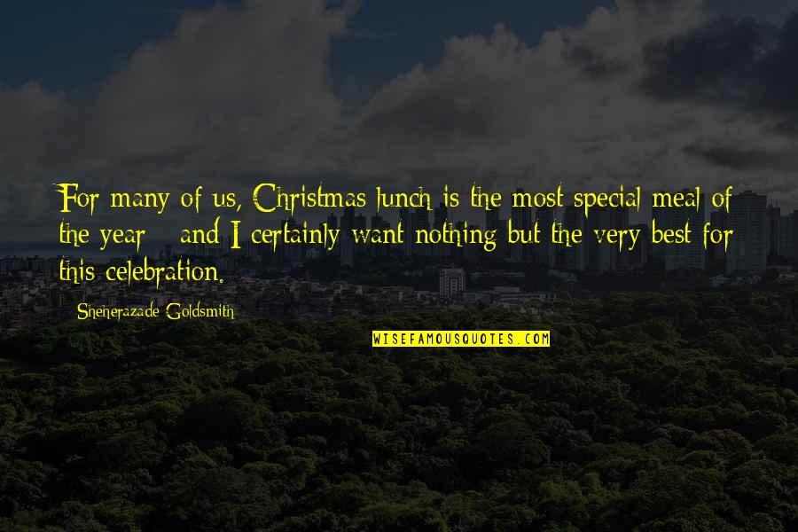 Very Best Quotes By Sheherazade Goldsmith: For many of us, Christmas lunch is the