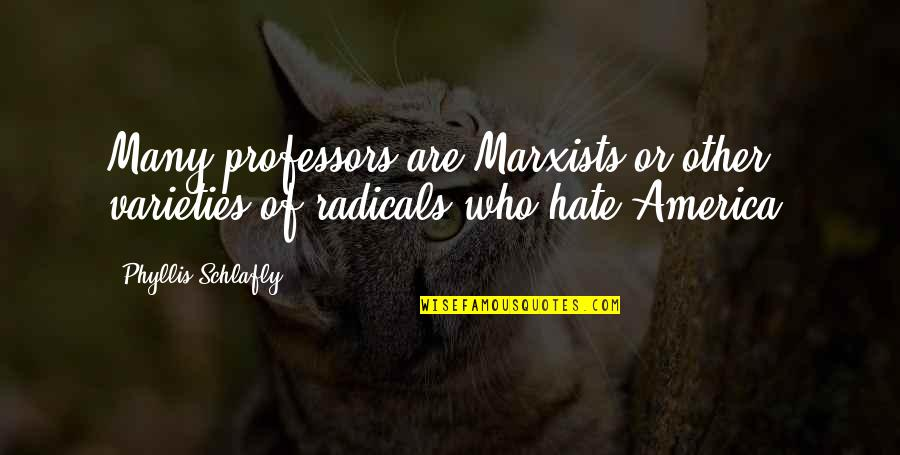 Very Emotional Heart Touching Quotes By Phyllis Schlafly: Many professors are Marxists or other varieties of
