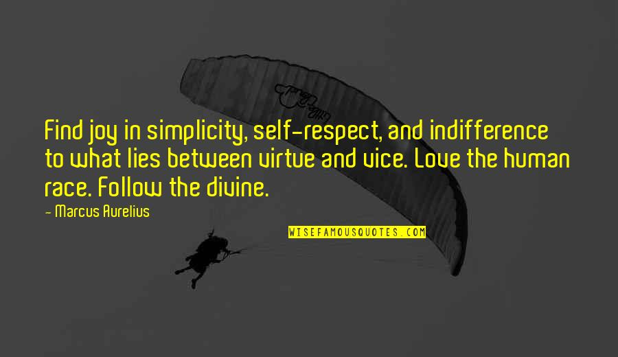 Vice And Virtue Quotes By Marcus Aurelius: Find joy in simplicity, self-respect, and indifference to