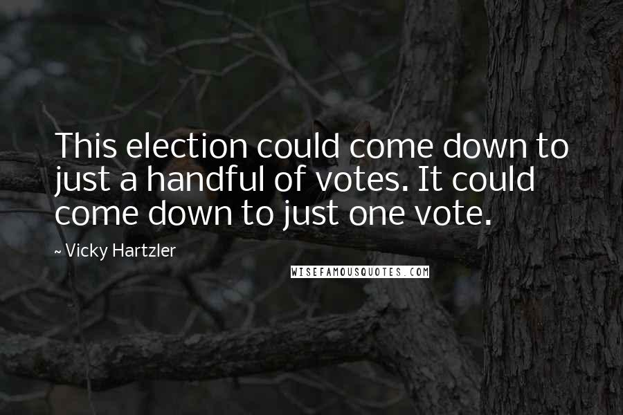 Vicky Hartzler quotes: This election could come down to just a handful of votes. It could come down to just one vote.