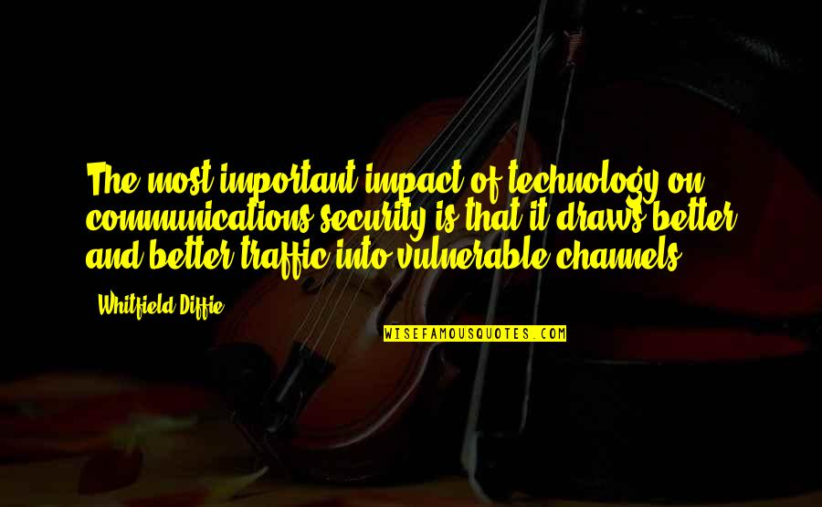 Victim 1961 Quotes By Whitfield Diffie: The most important impact of technology on communications