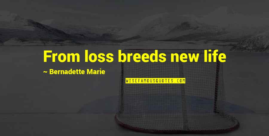 Victoria Baker Harber Quotes By Bernadette Marie: From loss breeds new life