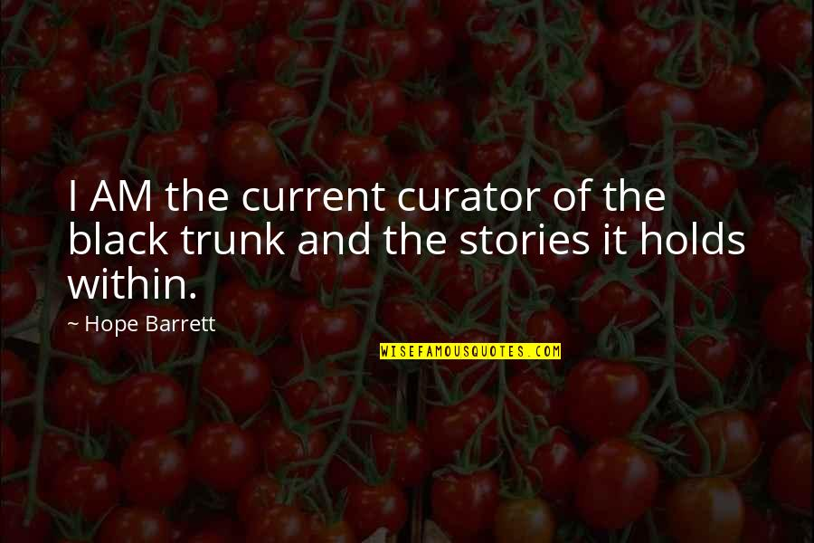 Victorian Era Quotes By Hope Barrett: I AM the current curator of the black