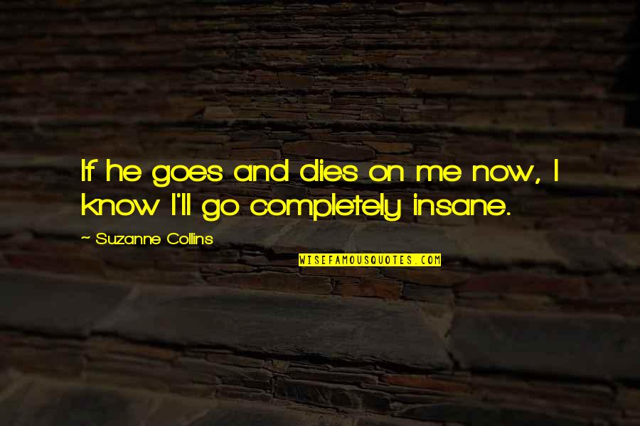 Vie Ta Vie Quotes By Suzanne Collins: If he goes and dies on me now,