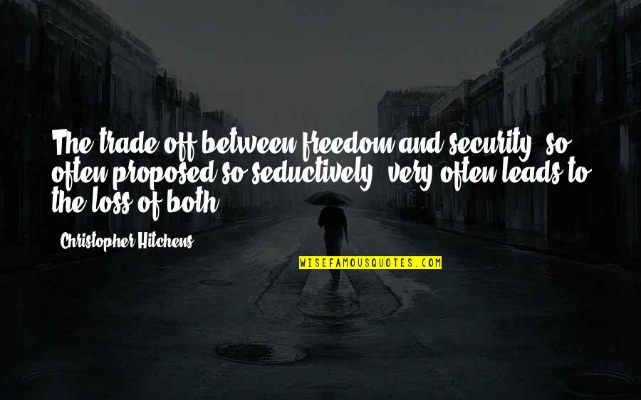 Vigilance Quotes By Christopher Hitchens: The trade-off between freedom and security, so often