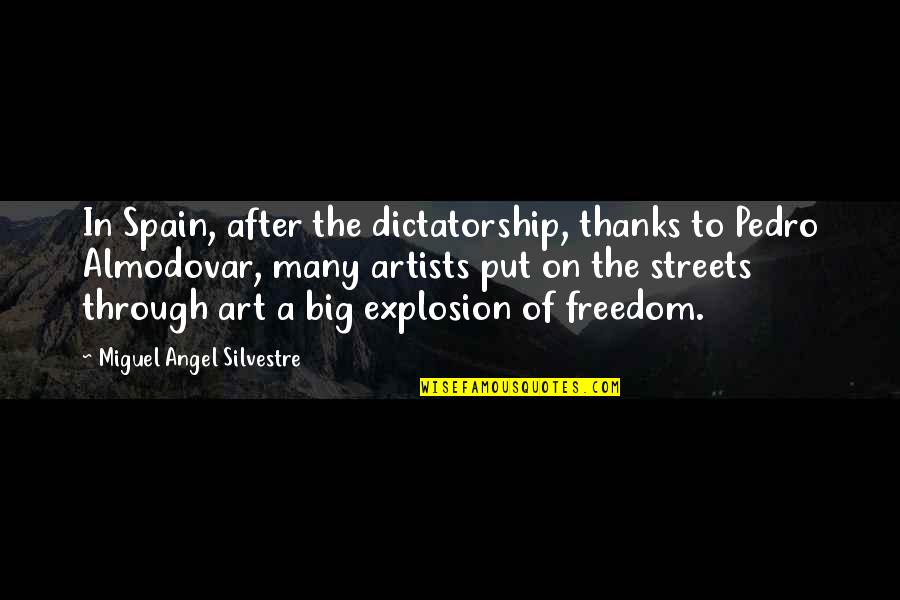 Vijayadasami 2010 Quotes By Miguel Angel Silvestre: In Spain, after the dictatorship, thanks to Pedro