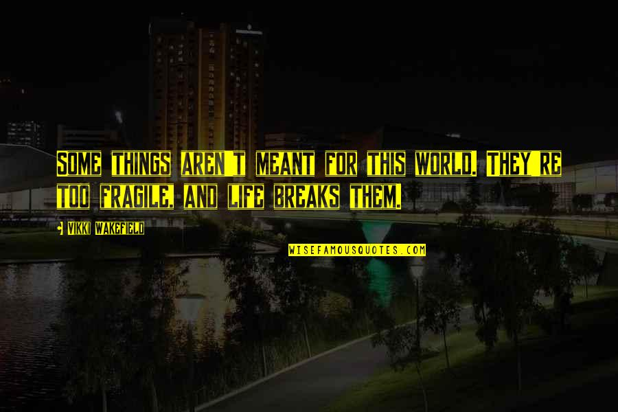 Vikki Quotes By Vikki Wakefield: Some things aren't meant for this world. They're
