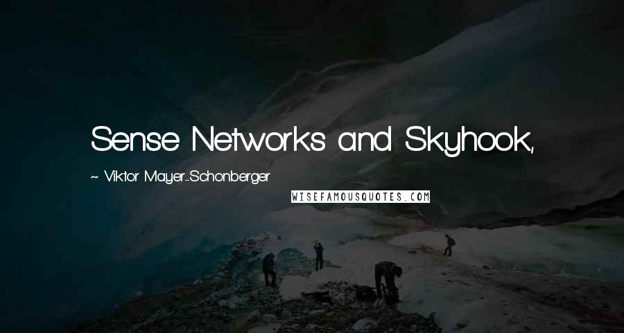 Viktor Mayer-Schonberger quotes: Sense Networks and Skyhook,