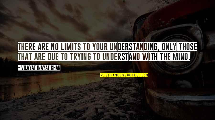 Vilayat Quotes By Vilayat Inayat Khan: There are no limits to your understanding, only