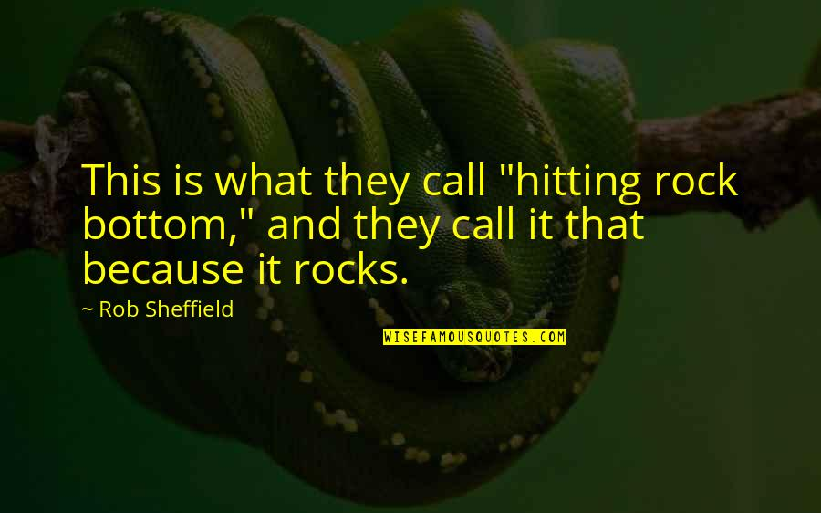 """Vincent Scully Quotes By Rob Sheffield: This is what they call """"hitting rock bottom,"""""""