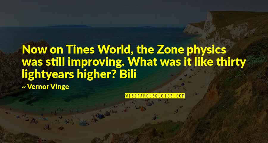 Vinge Quotes By Vernor Vinge: Now on Tines World, the Zone physics was