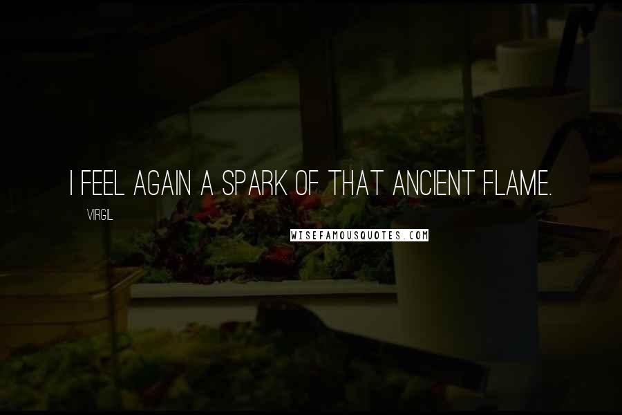 Virgil quotes: I feel again a spark of that ancient flame.