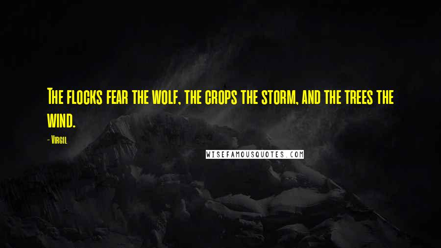 Virgil quotes: The flocks fear the wolf, the crops the storm, and the trees the wind.