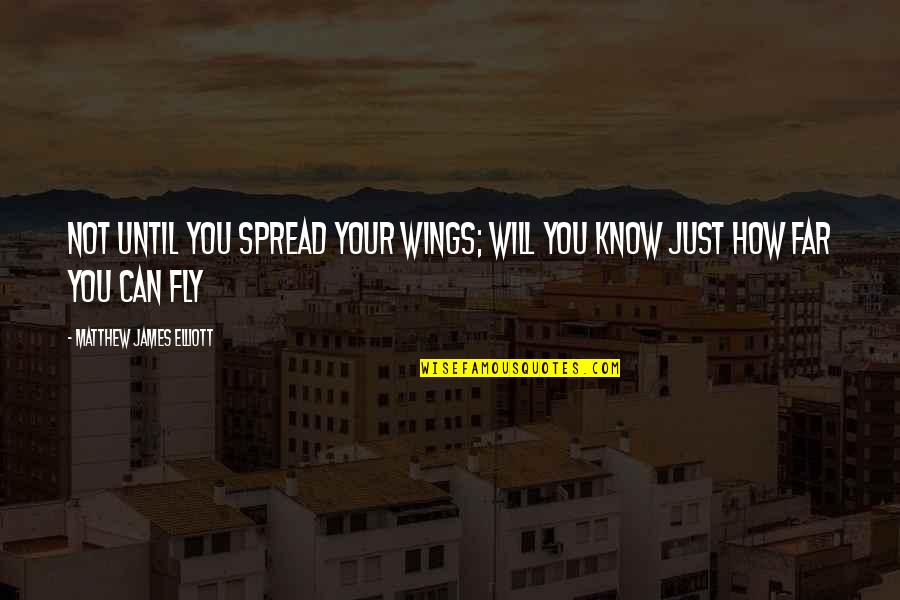 Virtual Love Quotes By Matthew James Elliott: Not until you spread your wings; will you