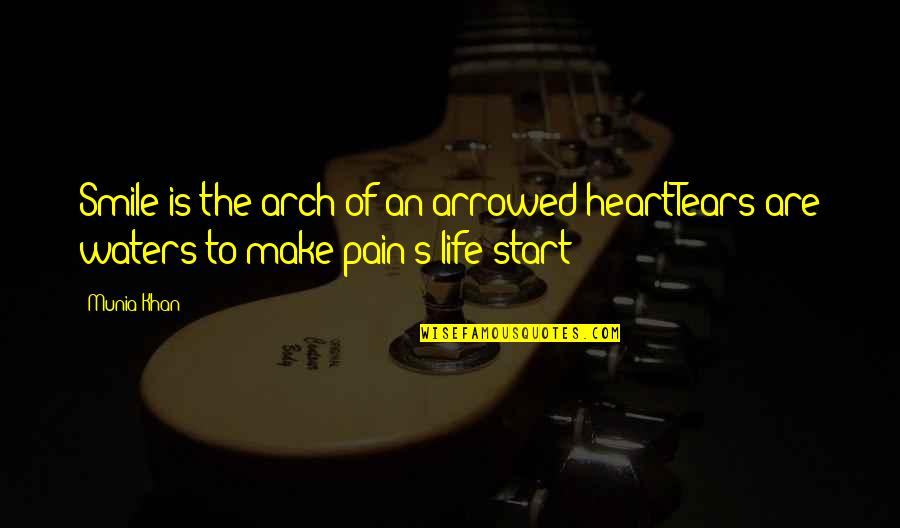 Viscarro Quotes By Munia Khan: Smile is the arch of an arrowed heartTears
