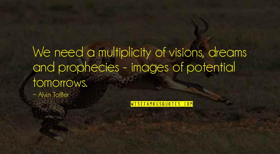 Vision And Dreams Quotes By Alvin Toffler: We need a multiplicity of visions, dreams and