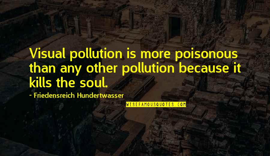 Visuals Quotes By Friedensreich Hundertwasser: Visual pollution is more poisonous than any other