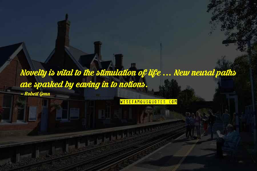 Vital Life Quotes By Robert Genn: Novelty is vital to the stimulation of life