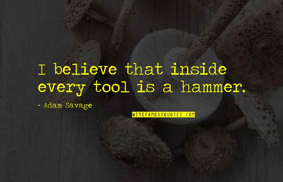 Vlr Sigma Quotes By Adam Savage: I believe that inside every tool is a
